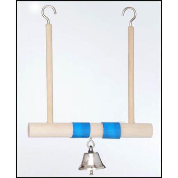 28-025869, Vogelschaukel aus Holz, mit Glocke