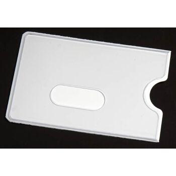 28-184000, EC-Kartenhülle, weiß/transparent, auch TOP als Werbeartikel