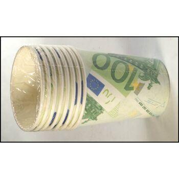 28-515277, Trinkbecher Euro 8er Pack, Pappbecher, Einweggeschirr (Teller unter 515284 zu finden)