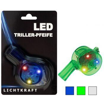 10-597070, LED Trillerpfeife mit Leucht-Funktion (3 LED´s), extrem Laut, für Konzerte / Fasching / Events / Partys, usw