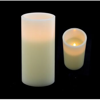 17-70858, Gigant LED Wachskerze, 20 x 10 cm, LED Licht flackernd