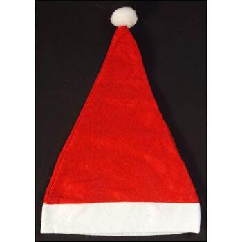 28-501481, Weihnachtsmann-Mütze, Nikolausmütze, mit Bommel