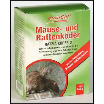 28-021767, Rattenköder, Mäuseköder, 10 x 25 g, gebrauchsfertiger Getreideköder, Wandermaus/Wandermäuse und Hausratten