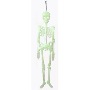 27-45135, RIESEN Skelett Glow in the dark, 92 cm, nachtleuchtend, bewegliche Gliedmaßen