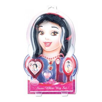 27-47417, Disney Princess Schneewittchen Accessoire Set, 43,5 x 27 cm, viel Zubehör, Perücke, Spiegel, Bürste, Kamm, Kette, Ring, Lipgloss