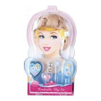 27-47418, RUBIE'S Disney Cinderella Verkleidungs Set, viel Zubehör, Perücke, Spiegel, Bürste, Kamm, Kette, Ring, Lipgloss
