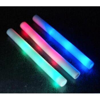 LED Leuchtstab 48 cm, blinkend, 3 Funktionen, Schaumstoff, Eventstab, Eventlicht, Konzert, Karneval, Fasching