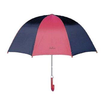 27-46095, Playshoes Regenschirm BASIC marine-pink, Stockschirm, Kinderschirm, Automatikschirm