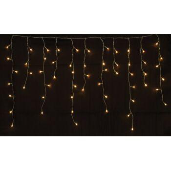 160 er LED Eiszapfen Lichterkette Eiszapfenkette innen/außen warmweiss