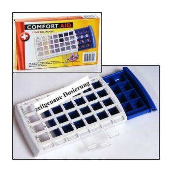 28-913025, Pillendose für 7 Tage, zur zeitgenauen Dosierung, Pillenbox