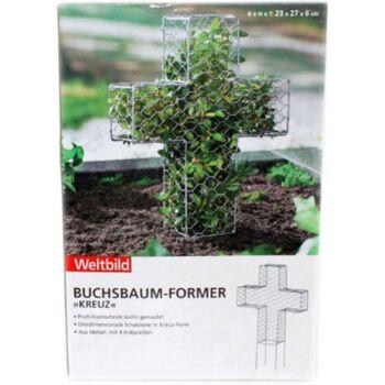 12-6003260, Metall Buchsbaum Former, Kreuz, Pflanzenformer, Profi Formschnitt leicht gemacht