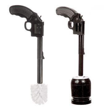 17-42165, Toilettenbürste Pistole, Bürtse und Halter im Set
