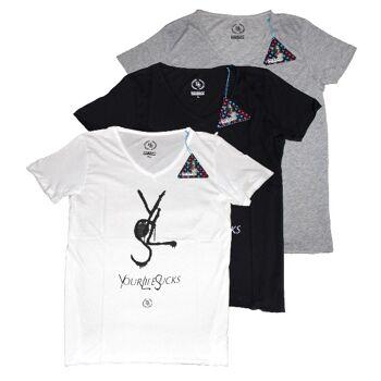Boom Bap Herren T-Shirt Logo-Shirt  V-Neck - Vintage Style