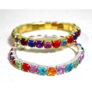 Armbänder mit bunten Glitzersteinen, Armband, Modeschmuck