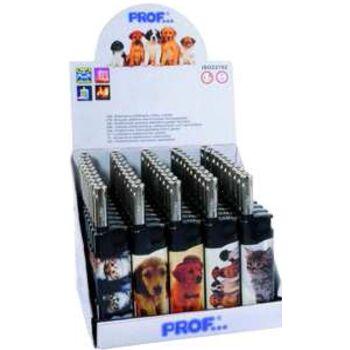 12-411468, Ministabfeuerzeug Tiermotive, Katzen und Hunde, Gasanzünder, Kerzenanzünder+++++