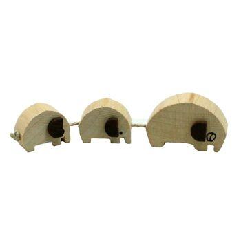 27-80056, Holz Elefantenzug mit 3 Elefanten Holzspielzeug ++++++++