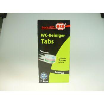 12-9029941, ORO WC-Reinigungstabs 16 x 25g - kraftvoll, Reiniger, Entkalker, Frische, 3-fach aktiv
