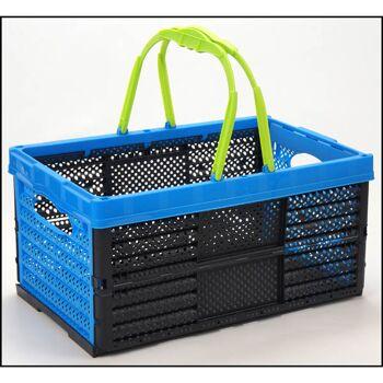 28-399145, Einkaufskorb 16L, klappbar, 2 Henkel, 2 Griffe, auch verwendbar als Klappbox, Einkaufstasche