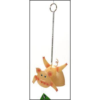 28-761669, Metall Hängedeko Tiere, mit Feder, Körper als Glocke
