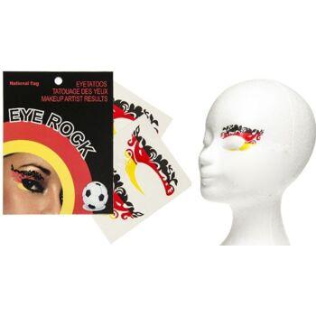 27-80050, Deutschland Augen Tattoo 4er Pack, Kostüm, Karneval, Party, Fasching, Event