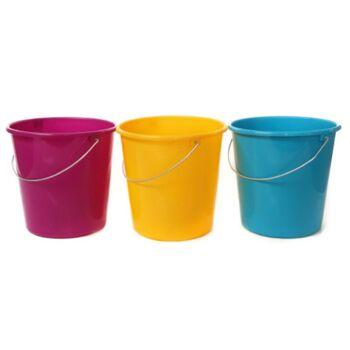 12-3005409, Haushaltseimer 5 Liter, miit Metallbügel, Henkel, Putzeimer, Wischeimer, Wassereimer