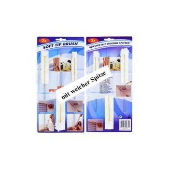 28-948355, Reinigungsbürste 3er Set, 3 Größen, mit weicher Spitze