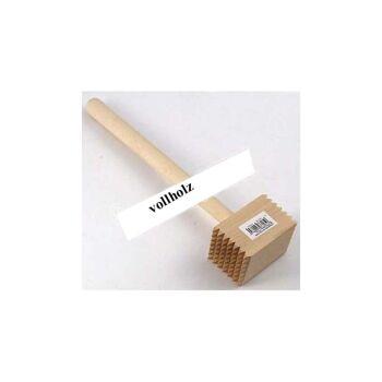 28-103704, Holz Fleischklopfer 30cm, beidseitig mit 49 Zacken