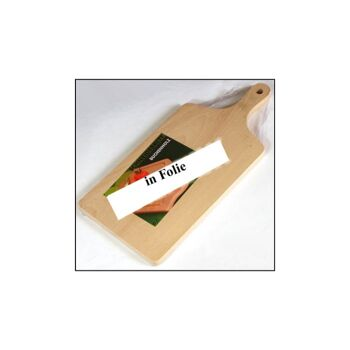 28-22123, Holz Fleischbrett mit Griff,39x17cm, Frühstücksbrett Schinkenbrett