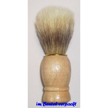 12-61663, Holz Rasierpinsel mit Goldring
