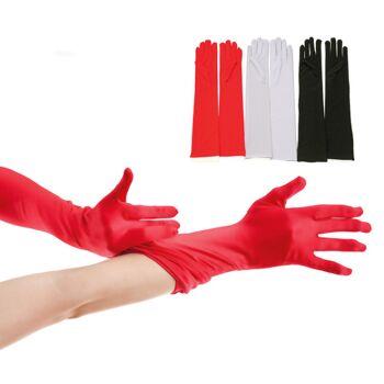 17-95382, Handschuhe lang, Party, Event, Kostüm, Karneval, Fasching, usw