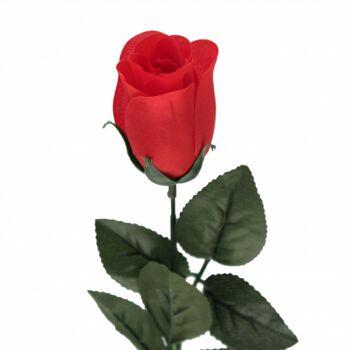 10-509100, Kunstblume Baccara Rose 60 cm, am Stiel, Stoffrose, hochwertige Verabeitung