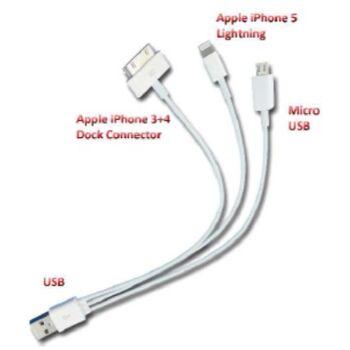 12-77006, USB-Ladekabel für iPad iPhone usw.