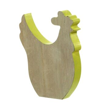 17-42644, Holz Huhn, zum Stellen 22,5 cm, Frühjahr, Ostern, Dekofigur