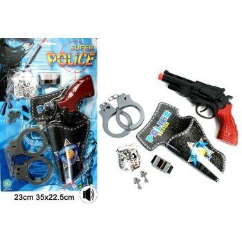 27-61951, Polizeikarte - Pistole mit Sound, Handschellen und Zubehör, Aktionset