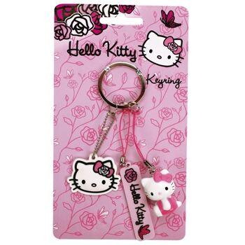 27-12934, Hello Kitty Pink Roses Schlüsselanhänger 3er Set