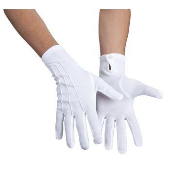 27-44209, Handschuhe Basic mit Druckknopf -weiß