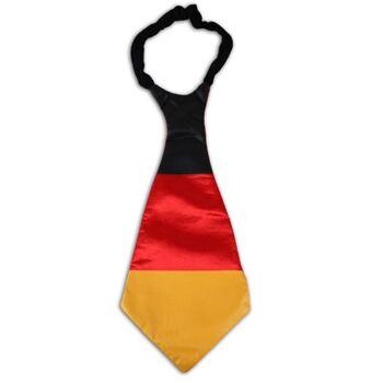 27-43024, Krawatte 42 cm, in Deutschlandfarben, BRD Farben, Party, Event, usw