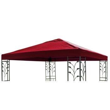 Ersatzdach für Gartenpavillon Pavillon 3 x 3 m Ersatz Dach Wasserdicht rot