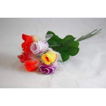 06-0756, Rose 32,5 cm, mit Tüll und Schnee