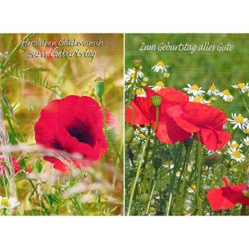28-517660, Karten Geburtstag Blumenmotiv, Geschenkkarten, Glückwunschkarten