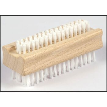 28-840239, Handwaschbürste Holz, doppelseitig, kombinierte Handwaschbürste und Nagelbürste