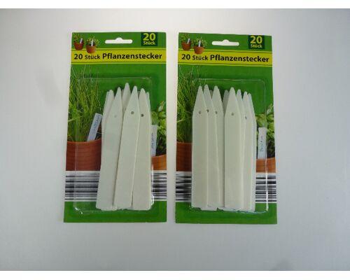 12-1101941, Pflanzenstecker, 20er Pack, Markierungsstäbe für Beete, Blumen, Sträucher, Kräuter, usw, Pflanzenschilder. Pflanzstecker