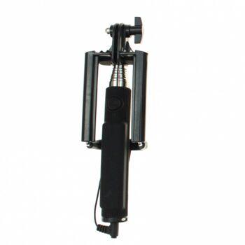 10-606400, Selfie Stick schwarz, kompatibel für alle Geräte mit  IOS und ANDROID