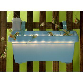 17-70408, LED Balkonkasten 40 cm, LED Licht, Blumenkasten, mit 20 LEDs
