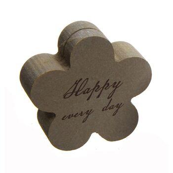 17-51223, Holz Kartenhalter Blume