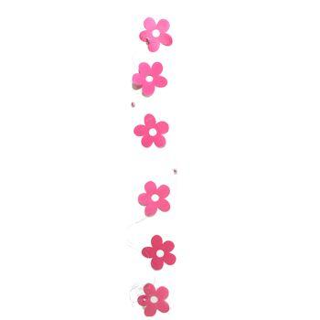 17-42655, Dekohänger pinke Blume, 110 cm