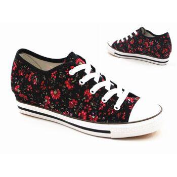 Damen Sneaker Schnür Schuhe Schuh Shoes Sportschuhe Freizeit Schuh nur 9,90 Euro