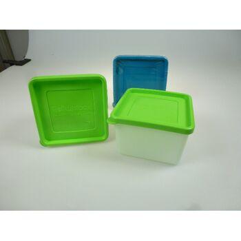 12-801566, Tiefkühldosen 2er Pack, mit Deckel, je 0,8 Liter, Frischhaltedose, Vorratsdose