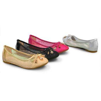Mädchen Ballerina Slipper Schuhe