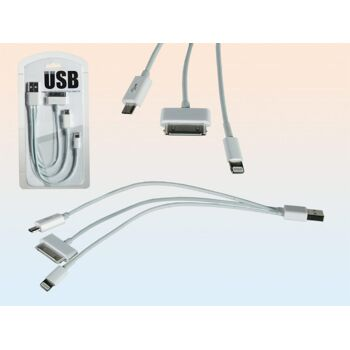 12-579224, USB-Ladekabel für iPad 1 - 4 / iPhone 4 - 5s